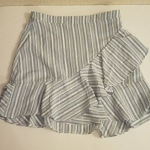 Dresses & Skirts - Baby blue stripe ruffle skirt.